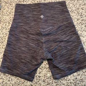 Lululemon Align Biker Shorts - Sz 4 - Black/White
